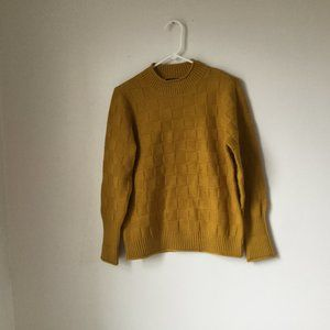 Modcloth Basketweave Mock Neck Sweater Color Honey